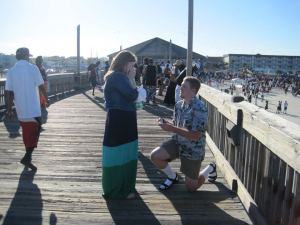 Engagement on the pier